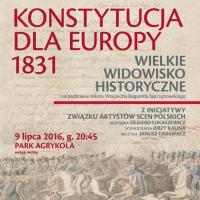 Widowisko historyczne: Konstytucja dla Europy 1831